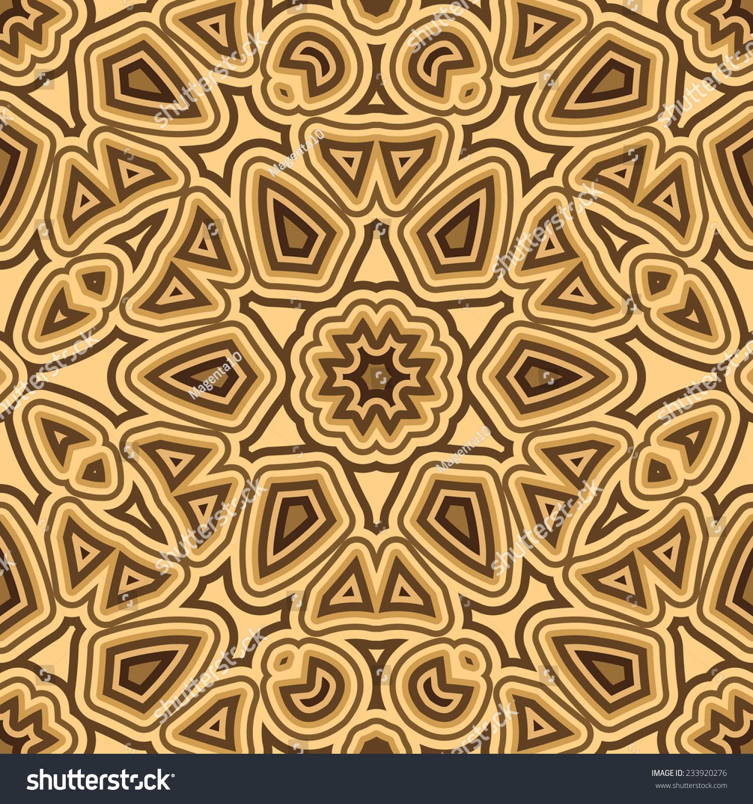 摘要龟壳装饰,矢量无缝模式-背景/素材,艺术-海洛创意