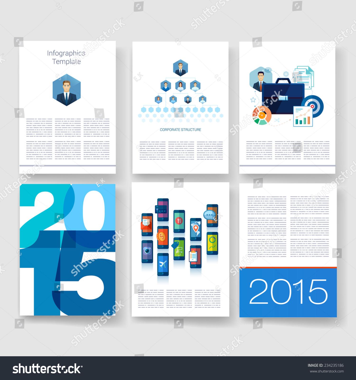 矢量小册子设计模板.应用和信息图表的概念.传单,小.