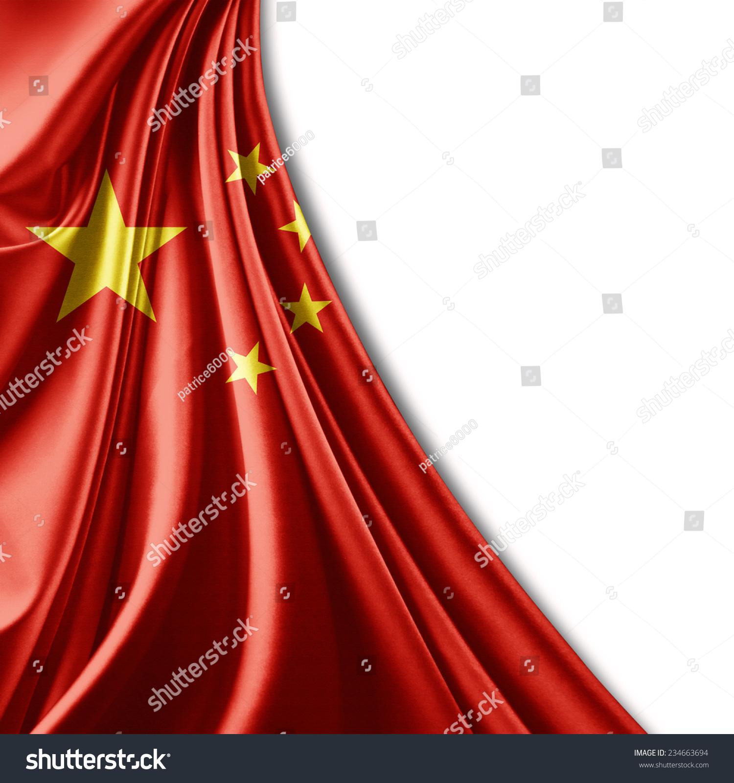 中国国旗和白色背景-背景/素材,符号/标志-海洛创意()