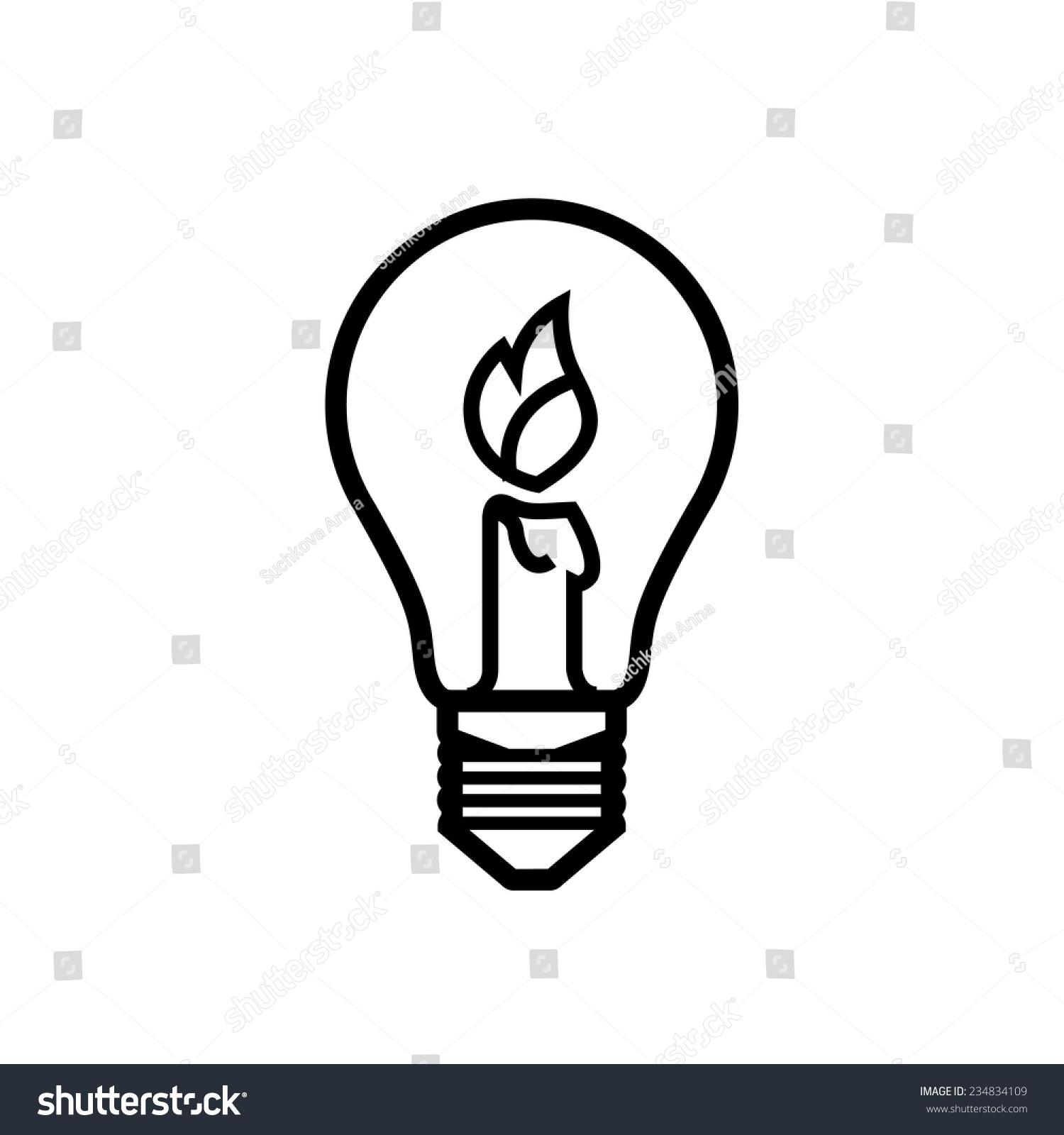 灯泡手绘线稿上色