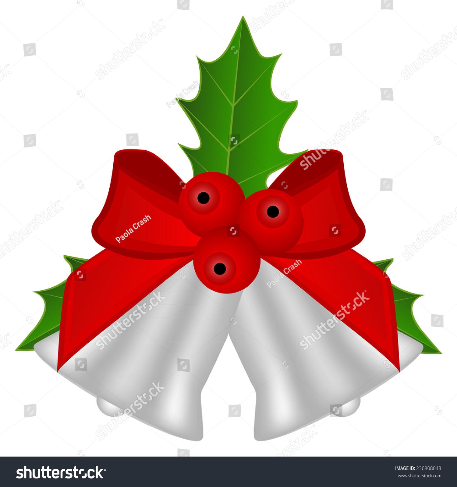 圣诞节银铃铛,红色的蝴蝶结