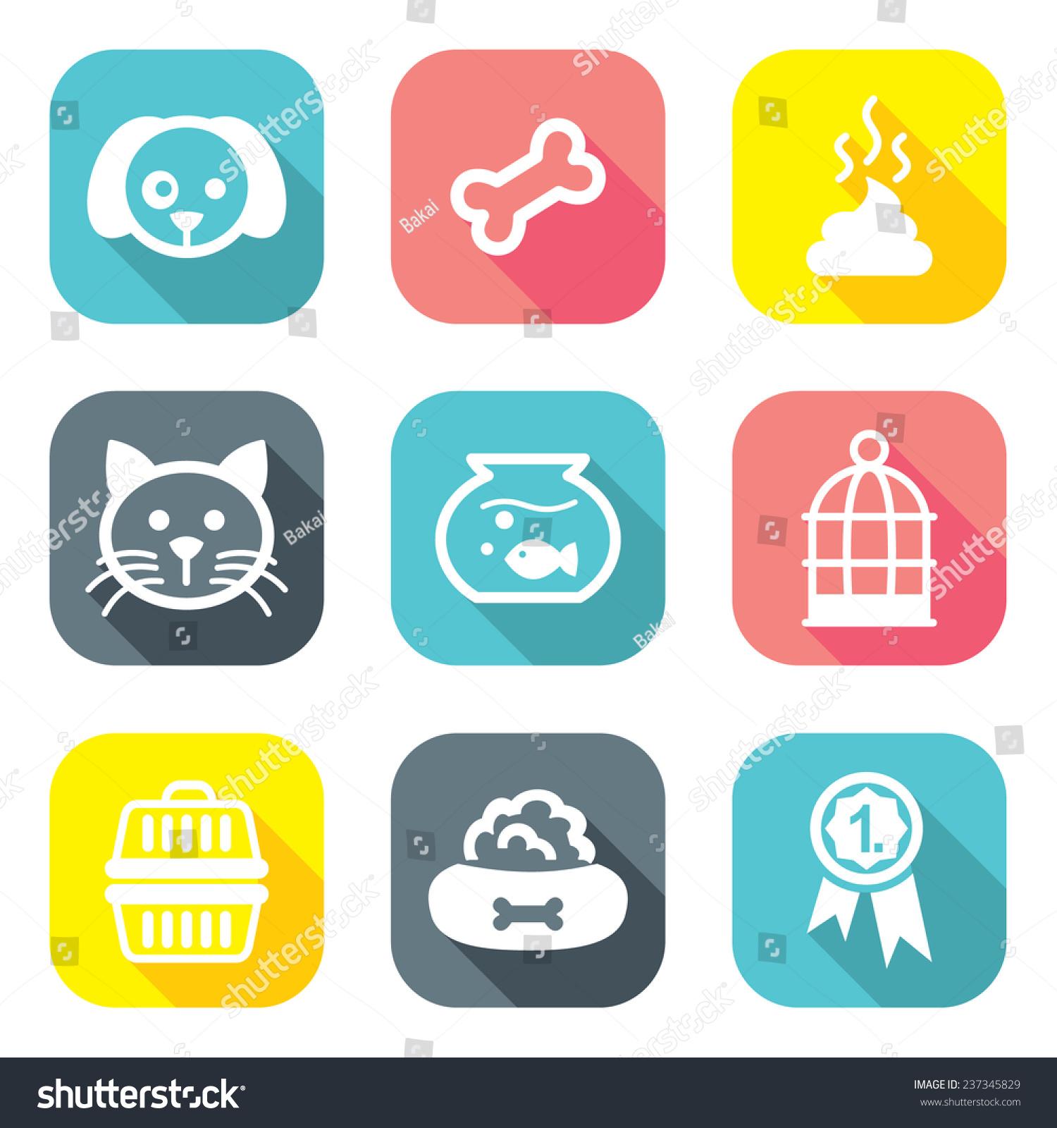 平面设计宠物图标-动物/野生生物,符号/标志-海洛创意