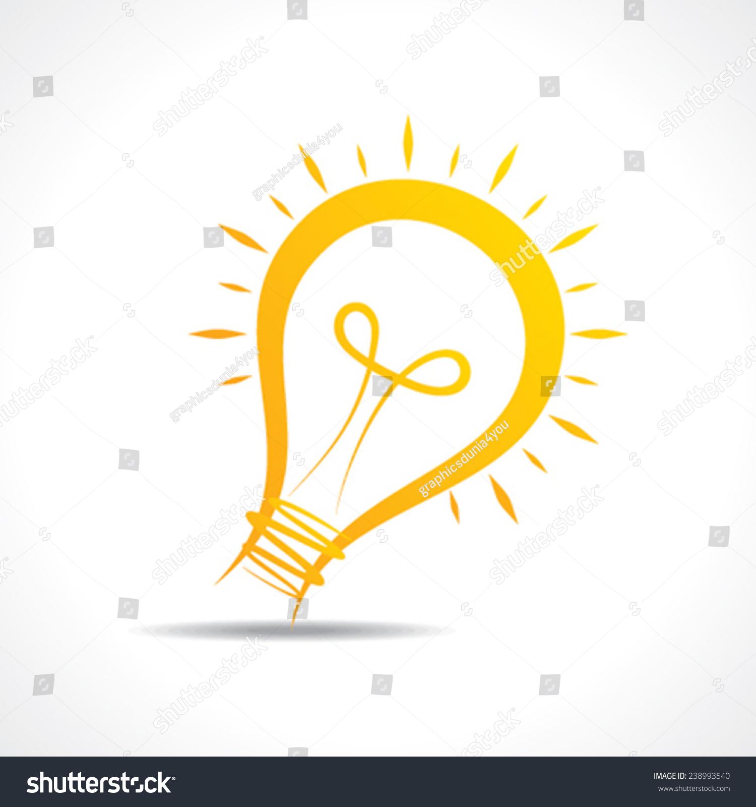 抽象的黄色电灯泡图标股票向量-商业/金融,符号/标志