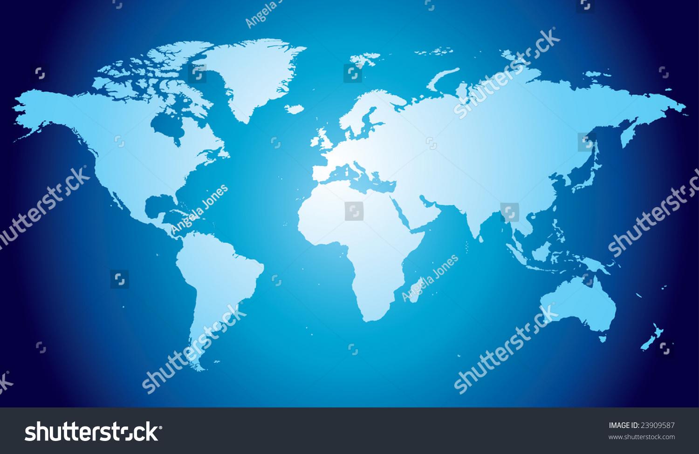 世界地图,手绘和高度详细-背景/素材