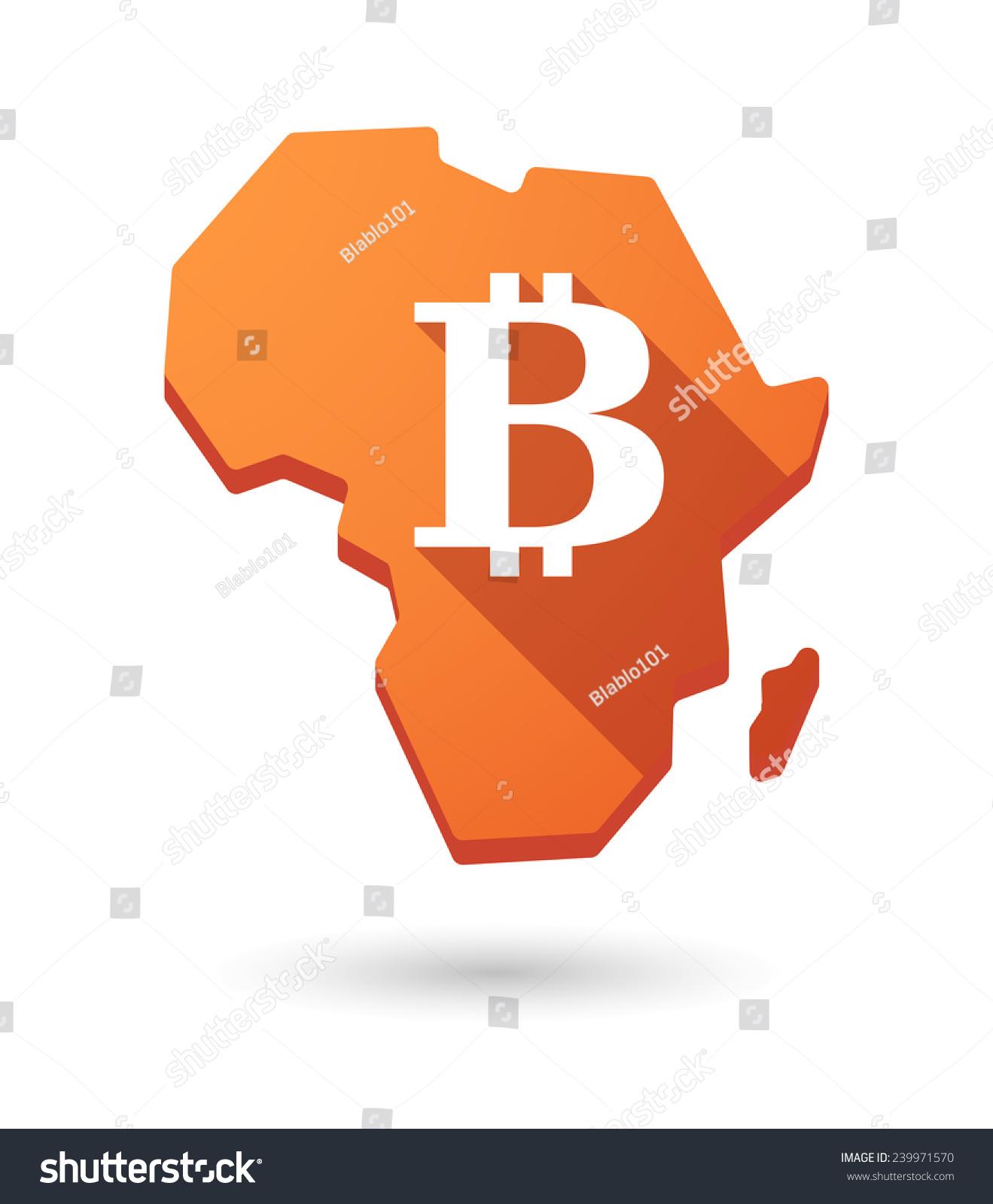 孤立的非洲大陆地图图标与货币符号