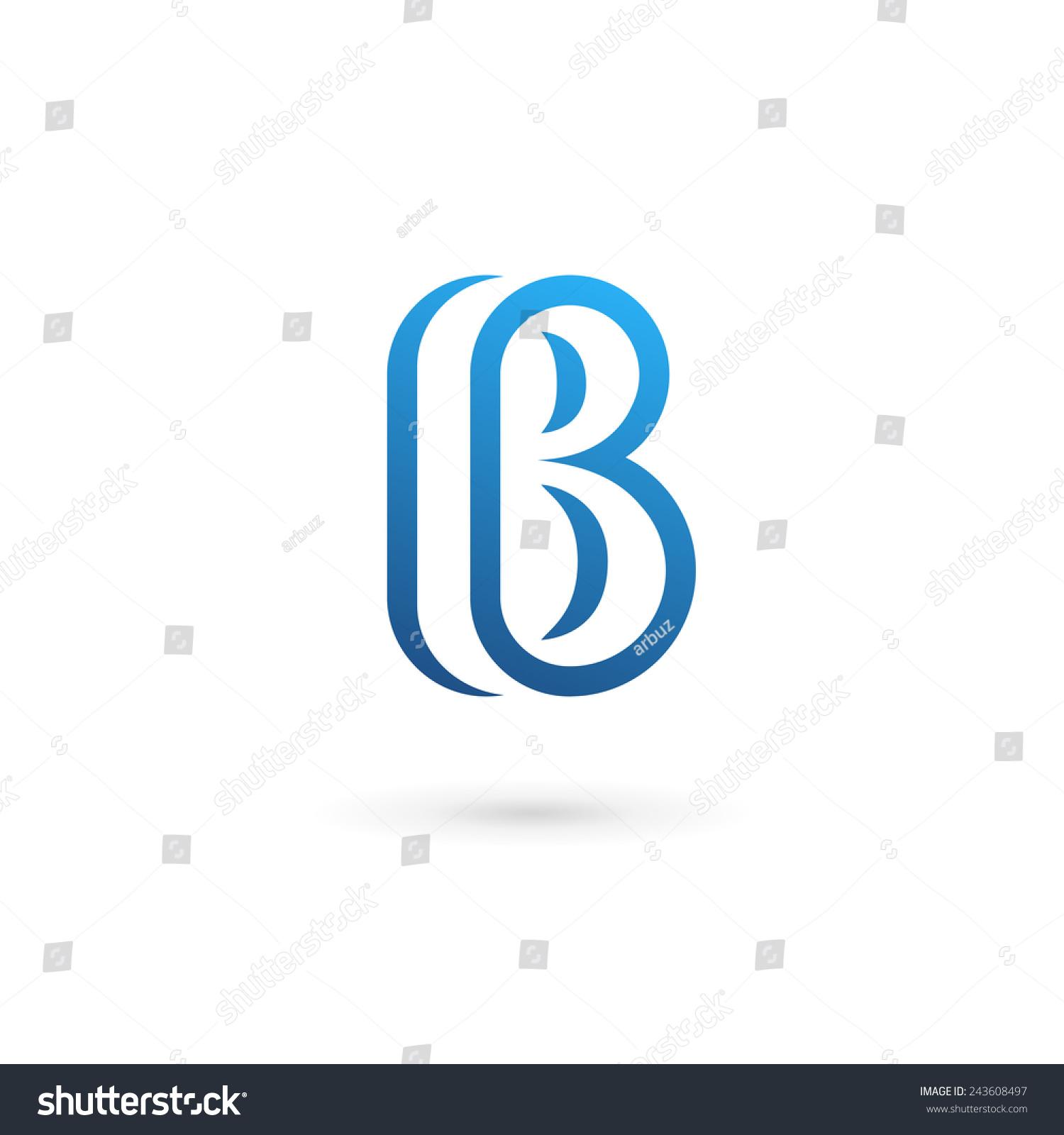 字母b标志图标设计模板元素-符号/标志