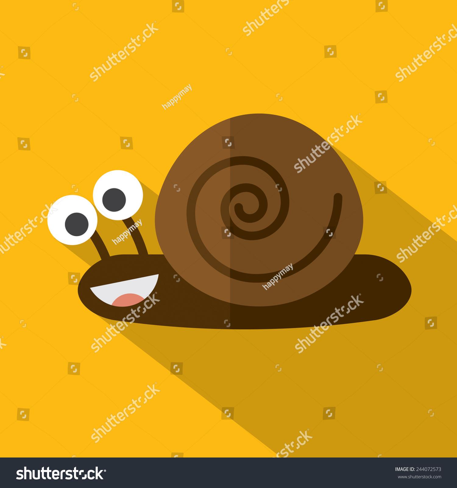 现代平面设计蜗牛图标矢量图-动物/野生生物-海洛
