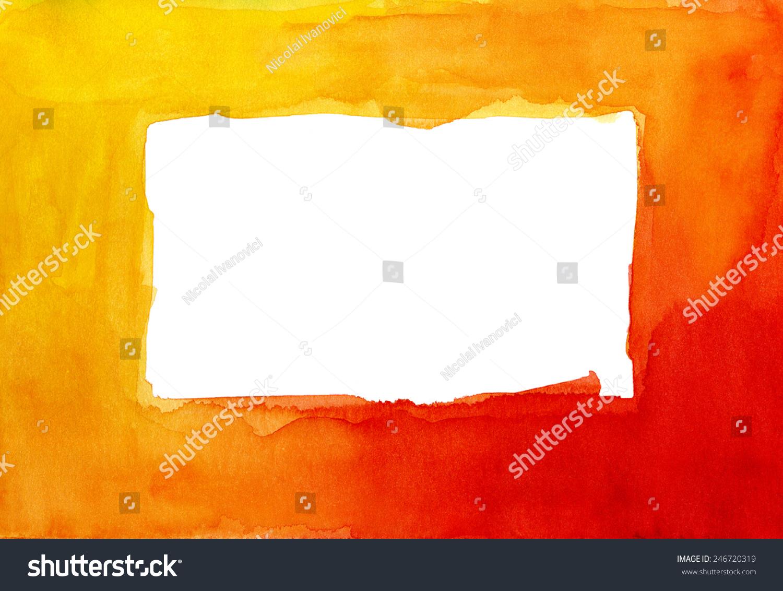 水彩画色彩鲜艳的红色框-背景/素材,抽象-海洛创意()