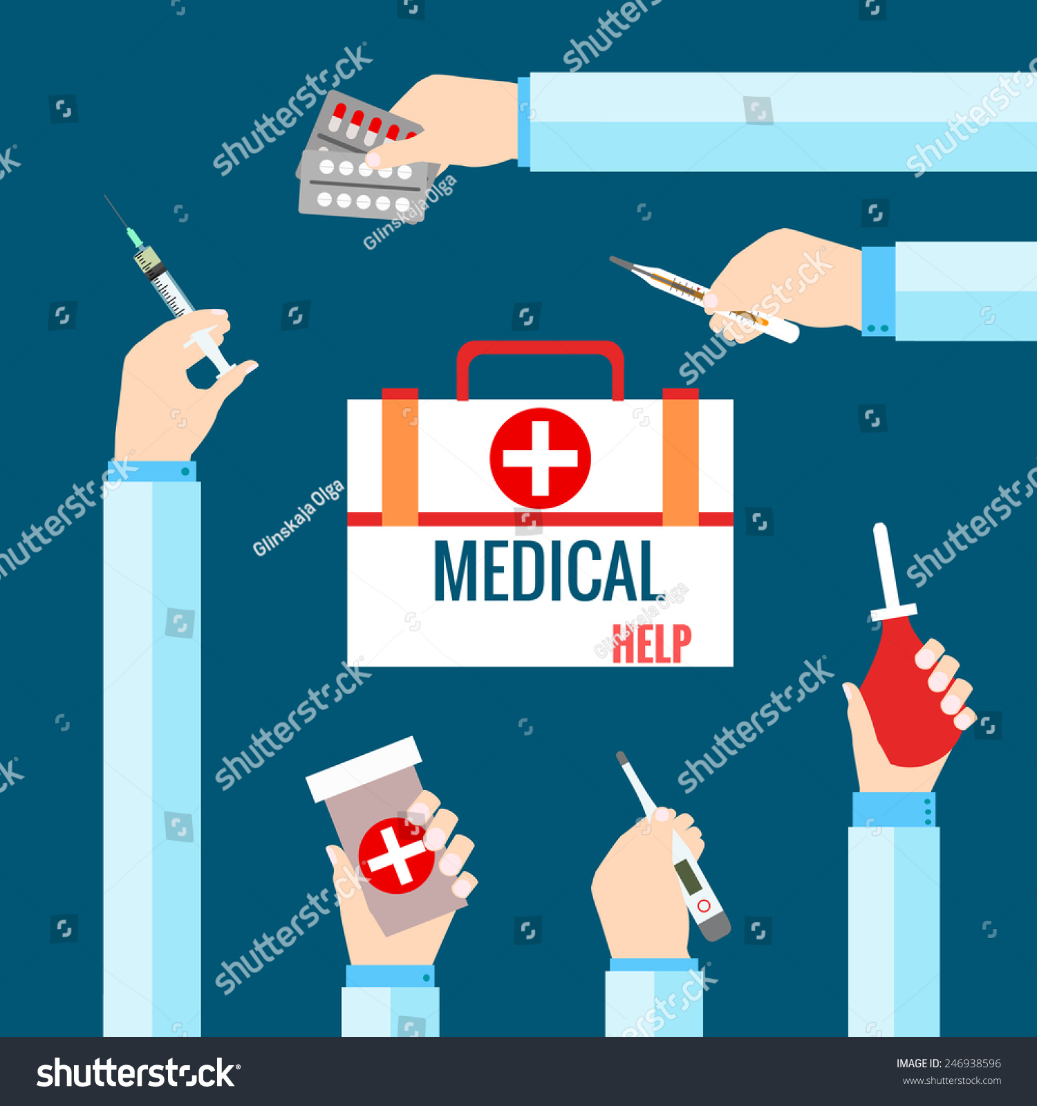 平面设计矢量插图为医疗保健的概念.医疗系统概念网络