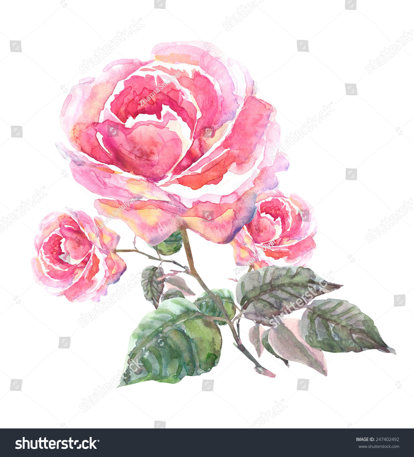 抽象创意手绘花