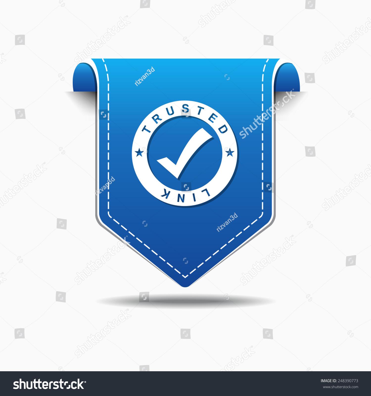 信任链接蓝色矢量图标设计-科技,符号/标志-海洛创意