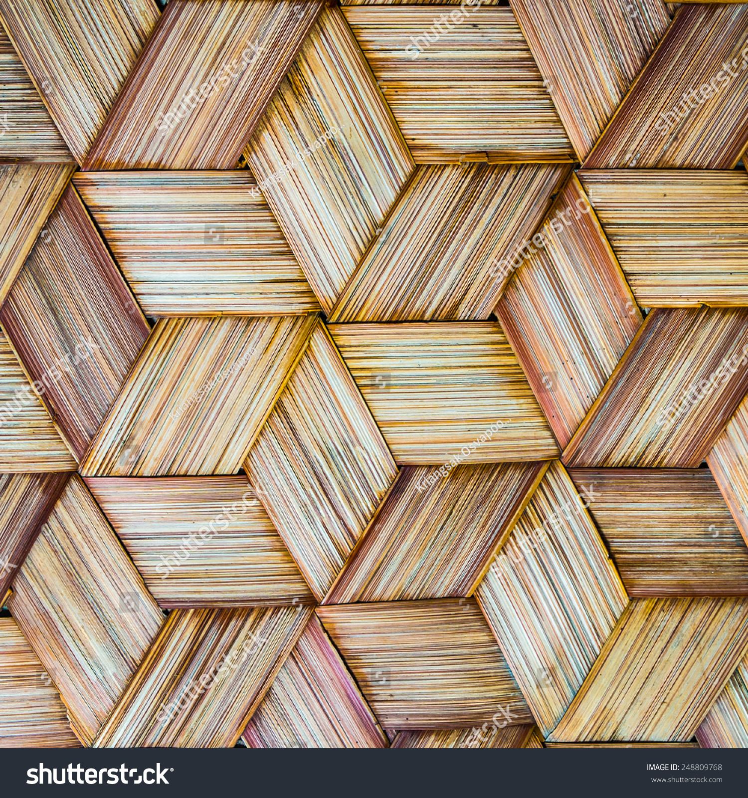 泰国风格的模式竹子手工纹理背景