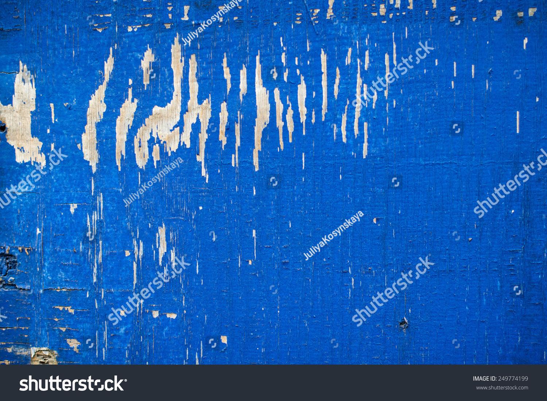 蓝色的木头纹理/背景,复制空间-背景/素材-海洛创意()