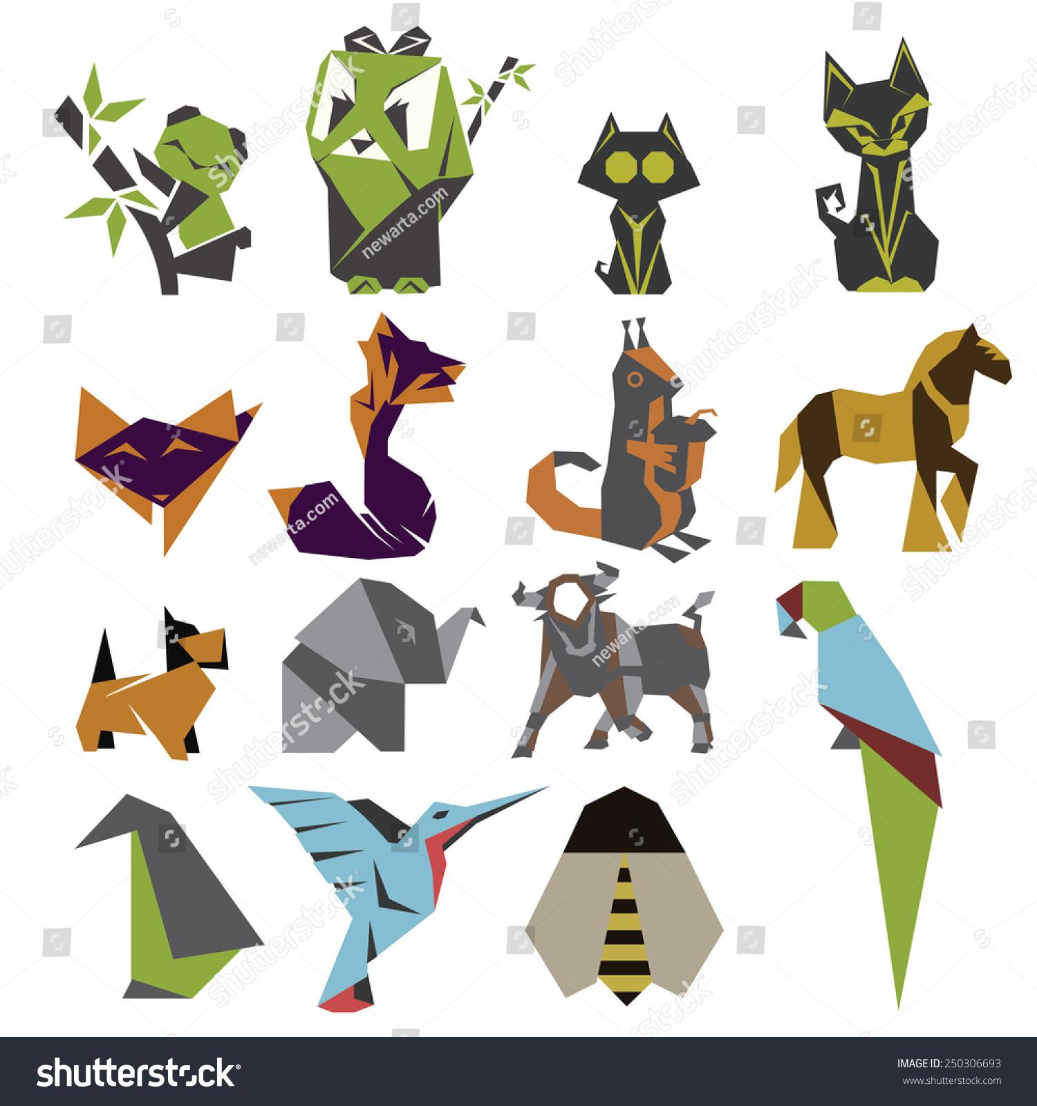 折纸图标设置-动物/野生生物-海洛创意(hellorf)-中国