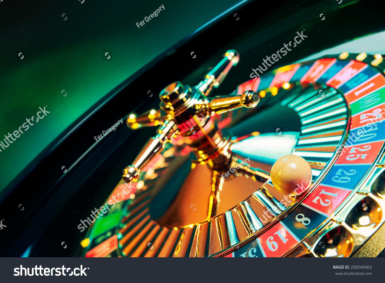 高对比度的图像赌场轮盘赌