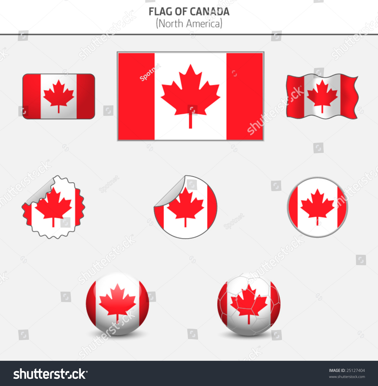 加拿大的国旗-抽象,插图/剪贴图-海洛创意(hellorf)
