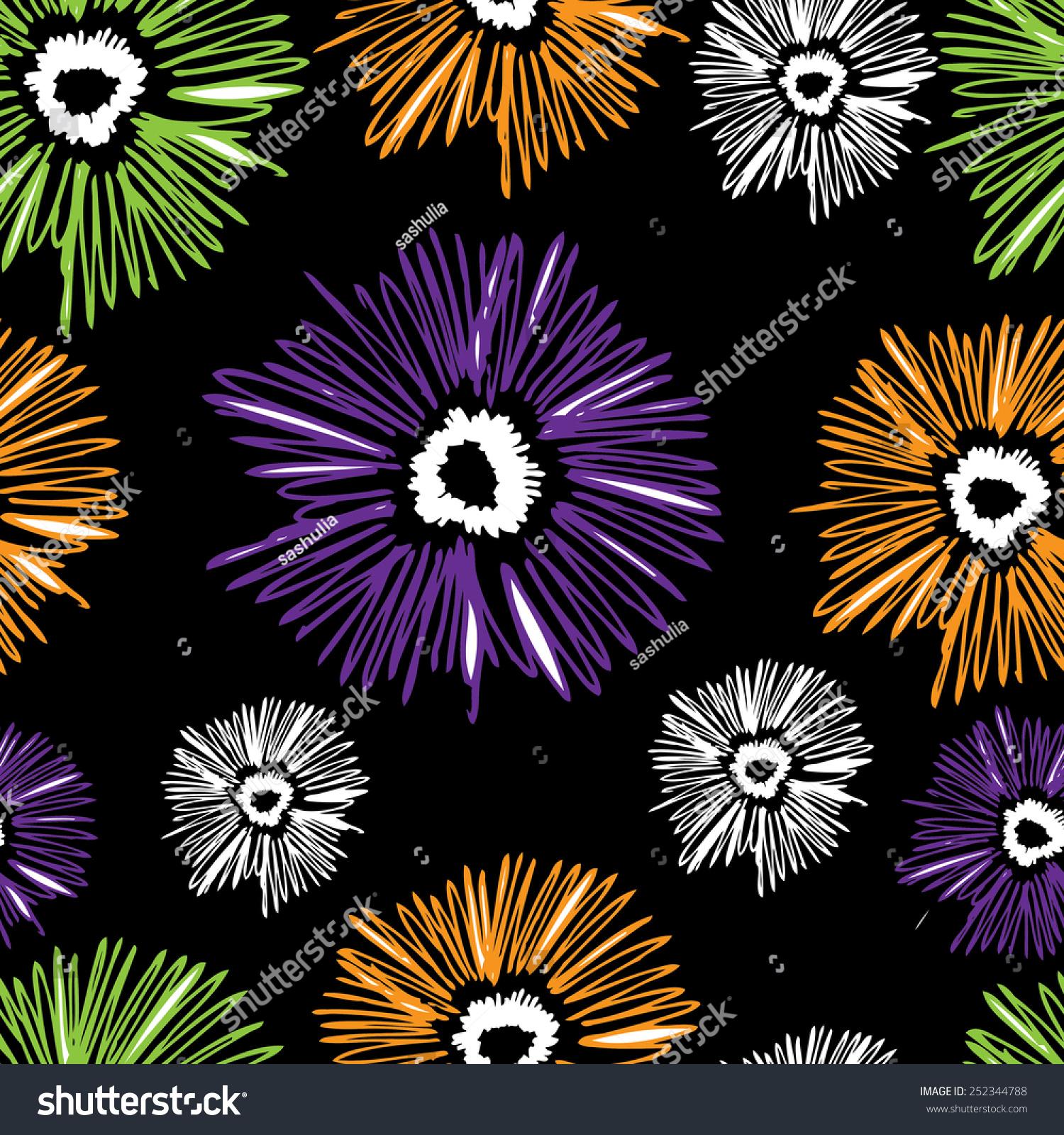 无缝的花卉图案.向量6-背景/素材