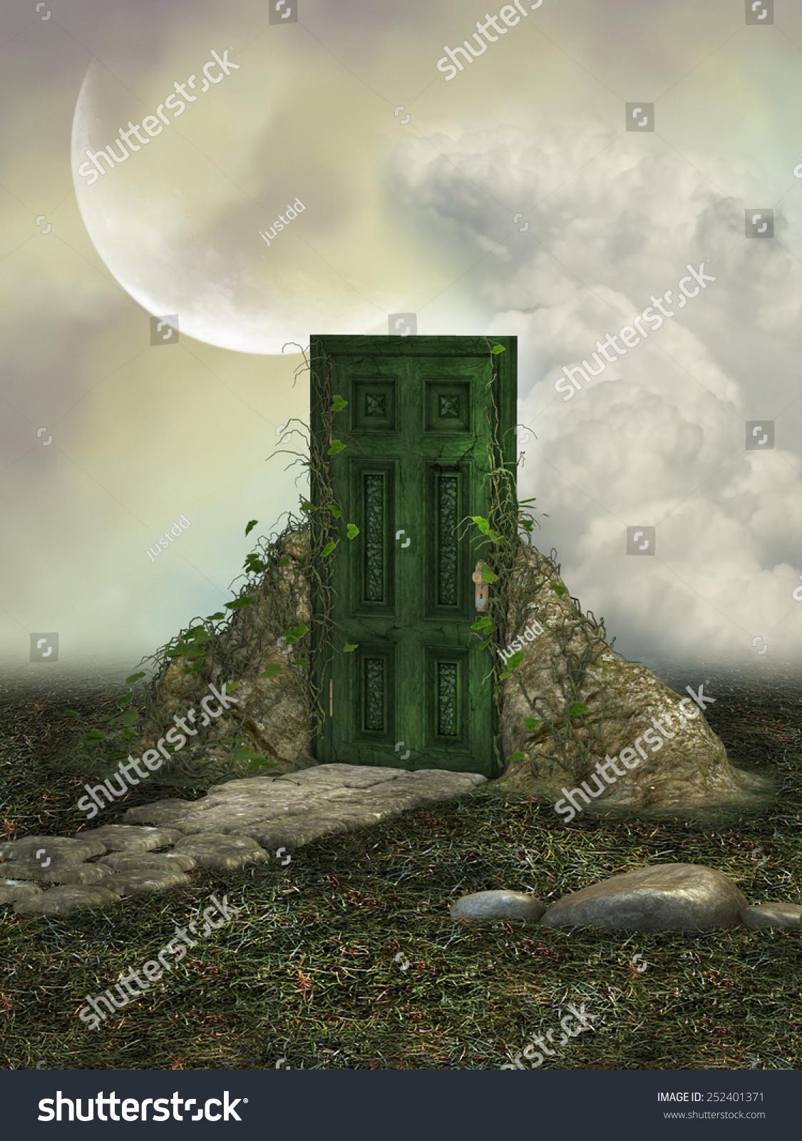 奇幻景观领域的魔法门-背景/素材,自然-海洛创意()-合