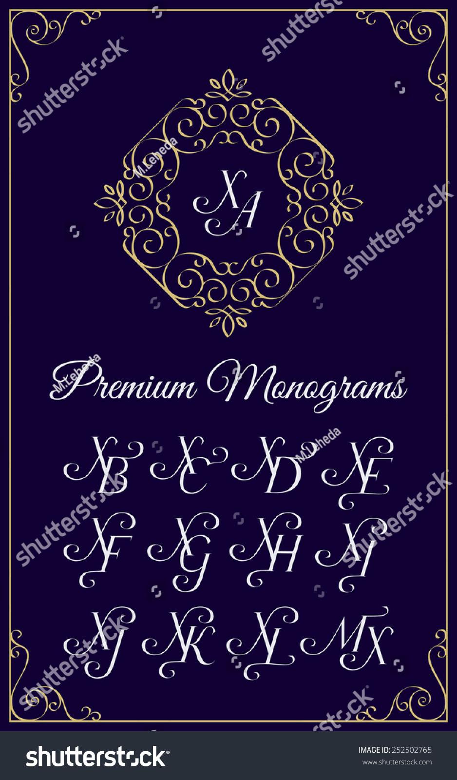 的大寫字母的字母組合設計模板組合xa