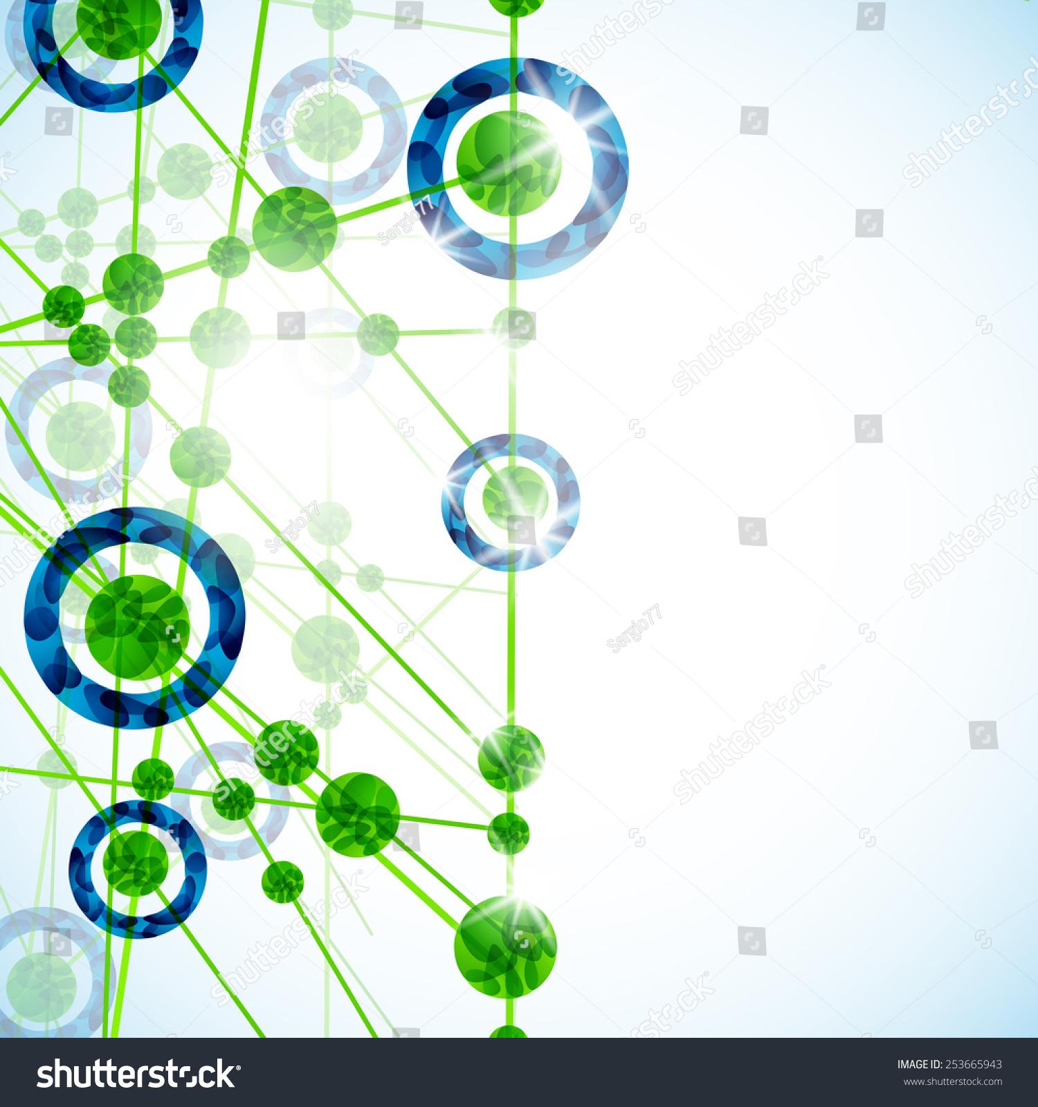 分子结构,抽象背景