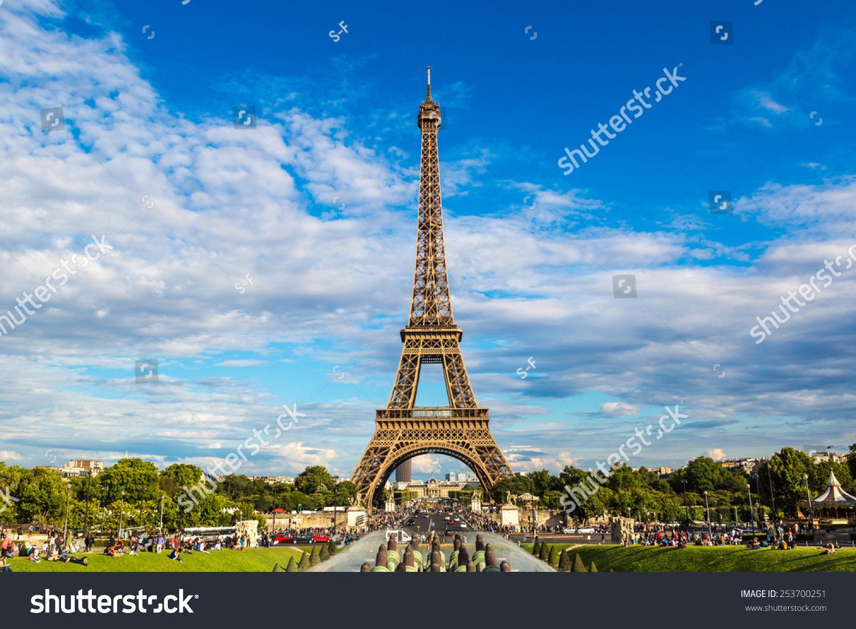 埃菲尔铁塔在法国和最著名的名胜之一的巴黎的象征-物