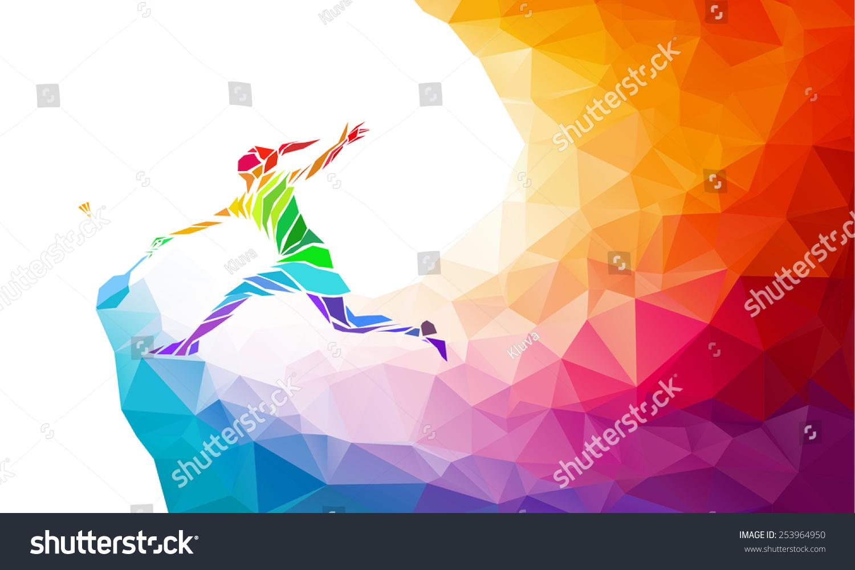 羽毛球运动的海报或传单背景与空的空间