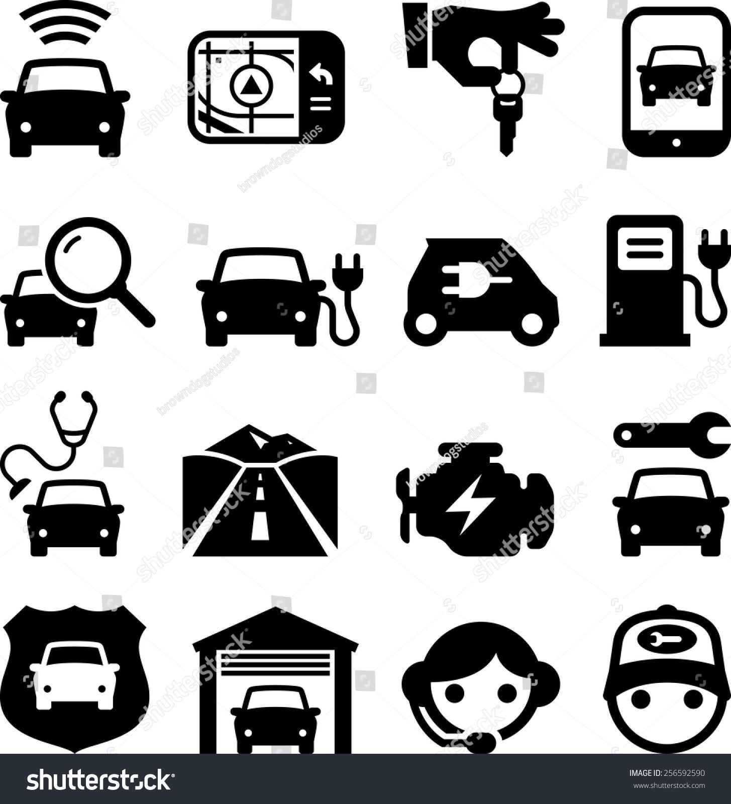 汽车图标.-交通运输-海洛创意(hellorf)-shutterstock