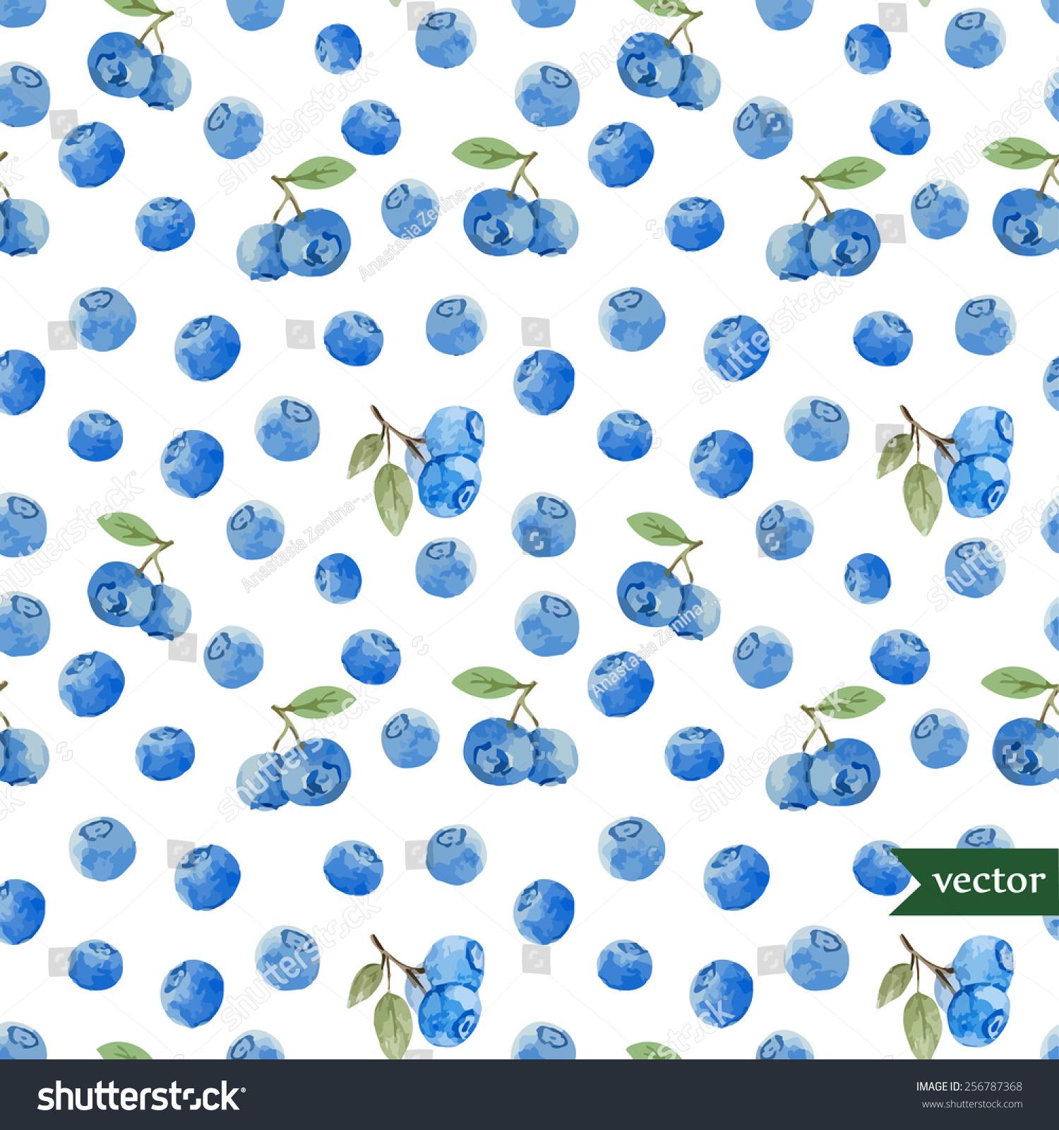 水彩,蓝莓,浆果,图案,背景-背景/素材,自然-海洛创意