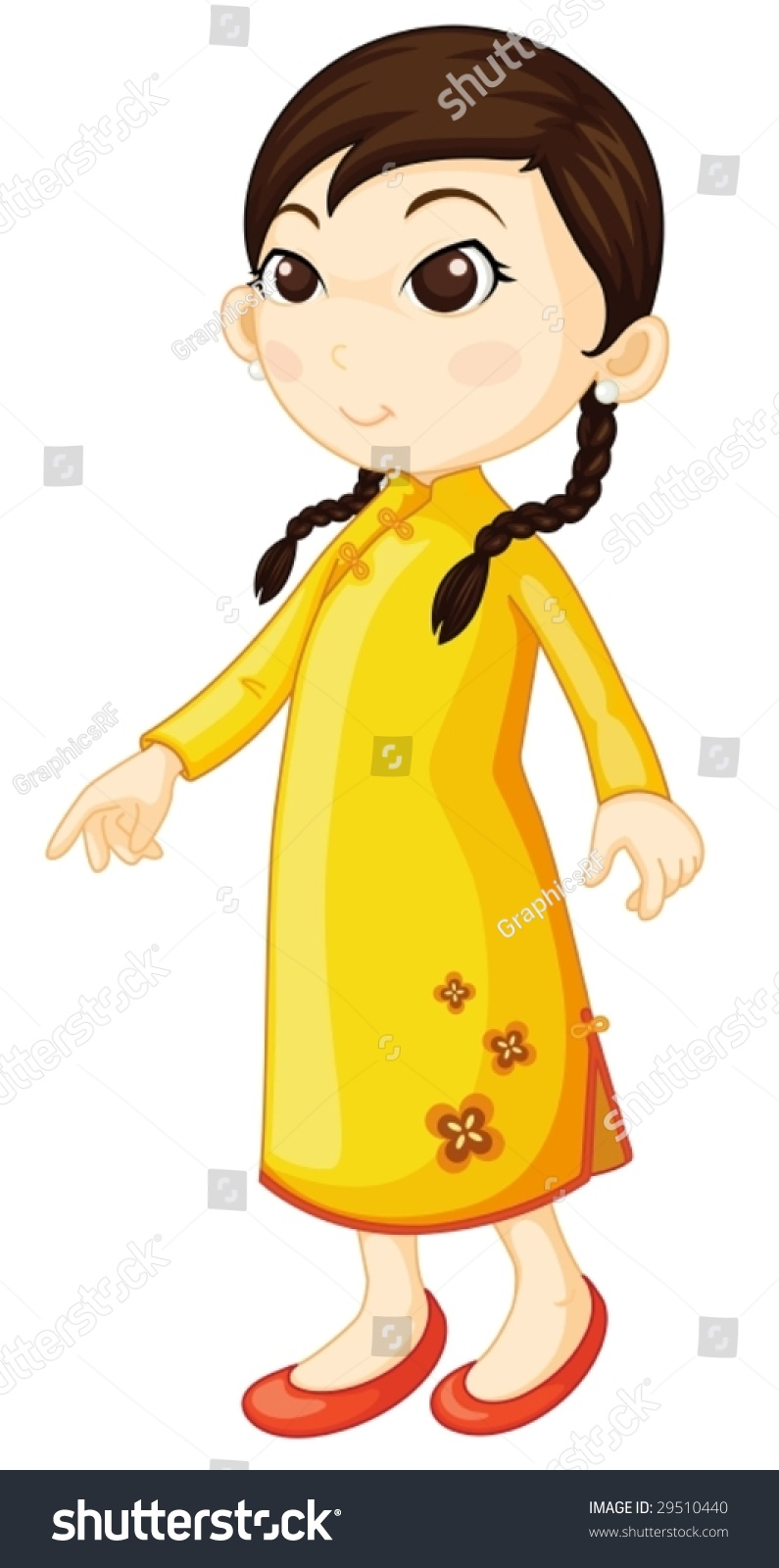 卡通古典旗袍的微信头像