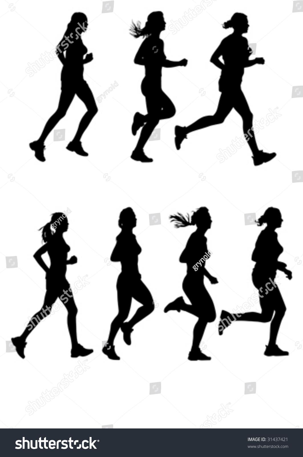 矢量图的女性马拉松
