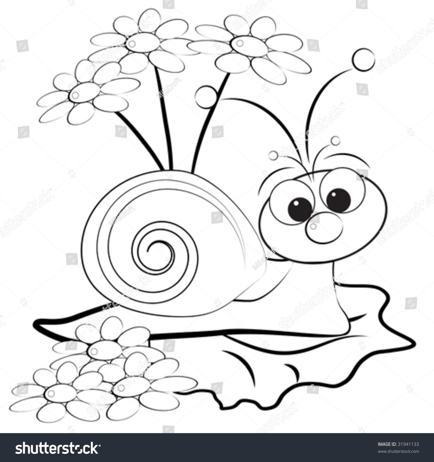 简单手绘可爱蜗牛
