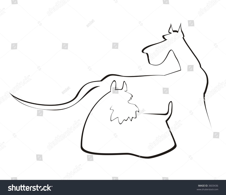 小动物名片简笔画