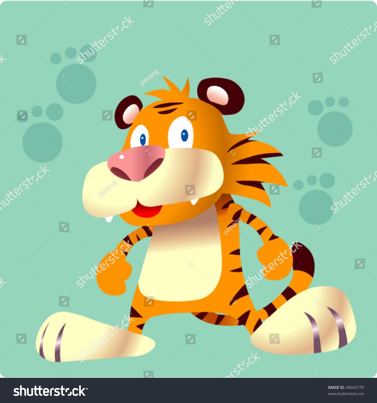 老虎的吉祥物-动物/野生生物,插图/剪贴图-海洛创意()