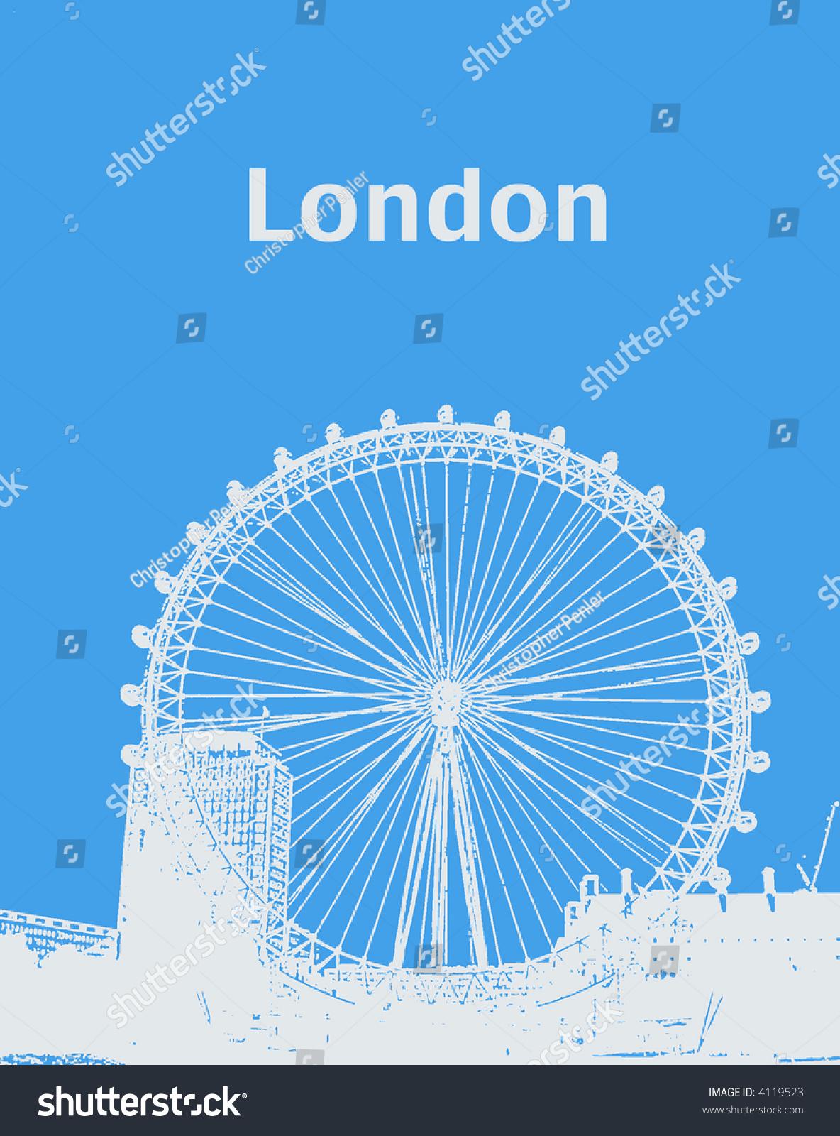 伦敦眼.-插图/剪贴图,建筑物/地标-海洛创意(hellorf)