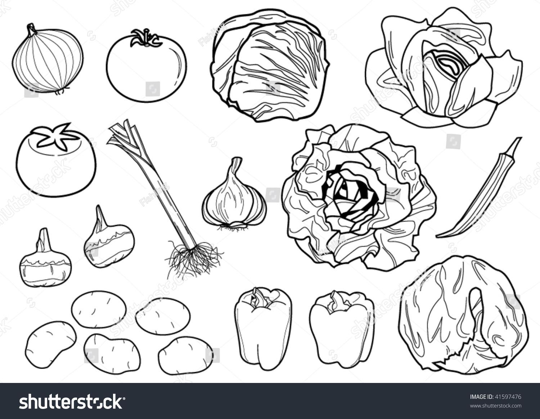 什锦蔬菜水果矢量-食品及饮料,插图/剪贴图-海洛创意图片