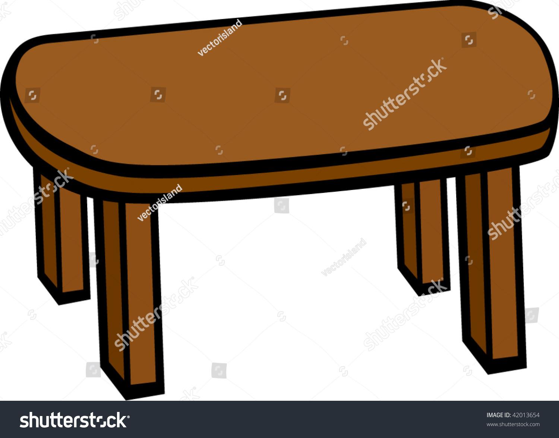 木制的桌子-插图/剪贴图