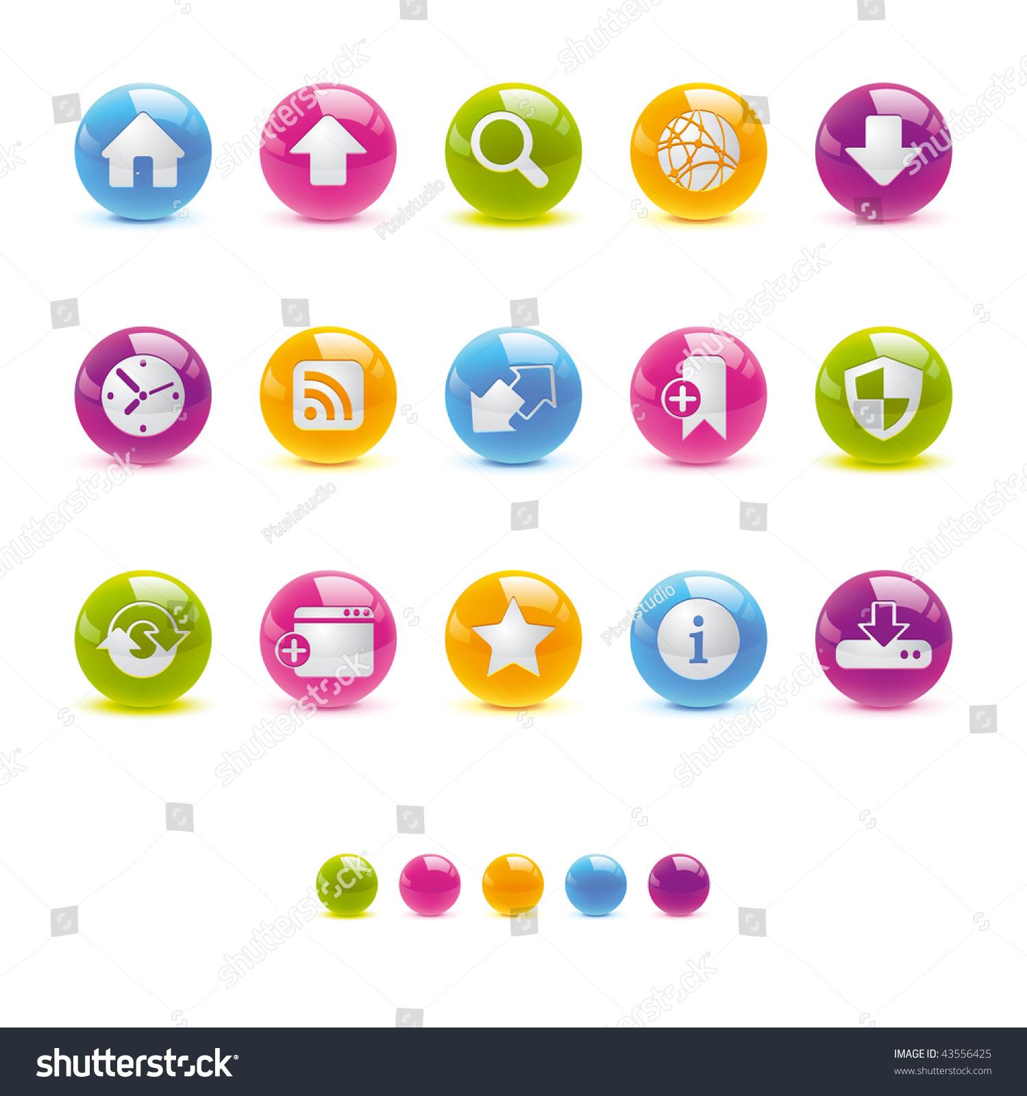 光滑的圆形图标- web和网络矢量adobe illustrator  8