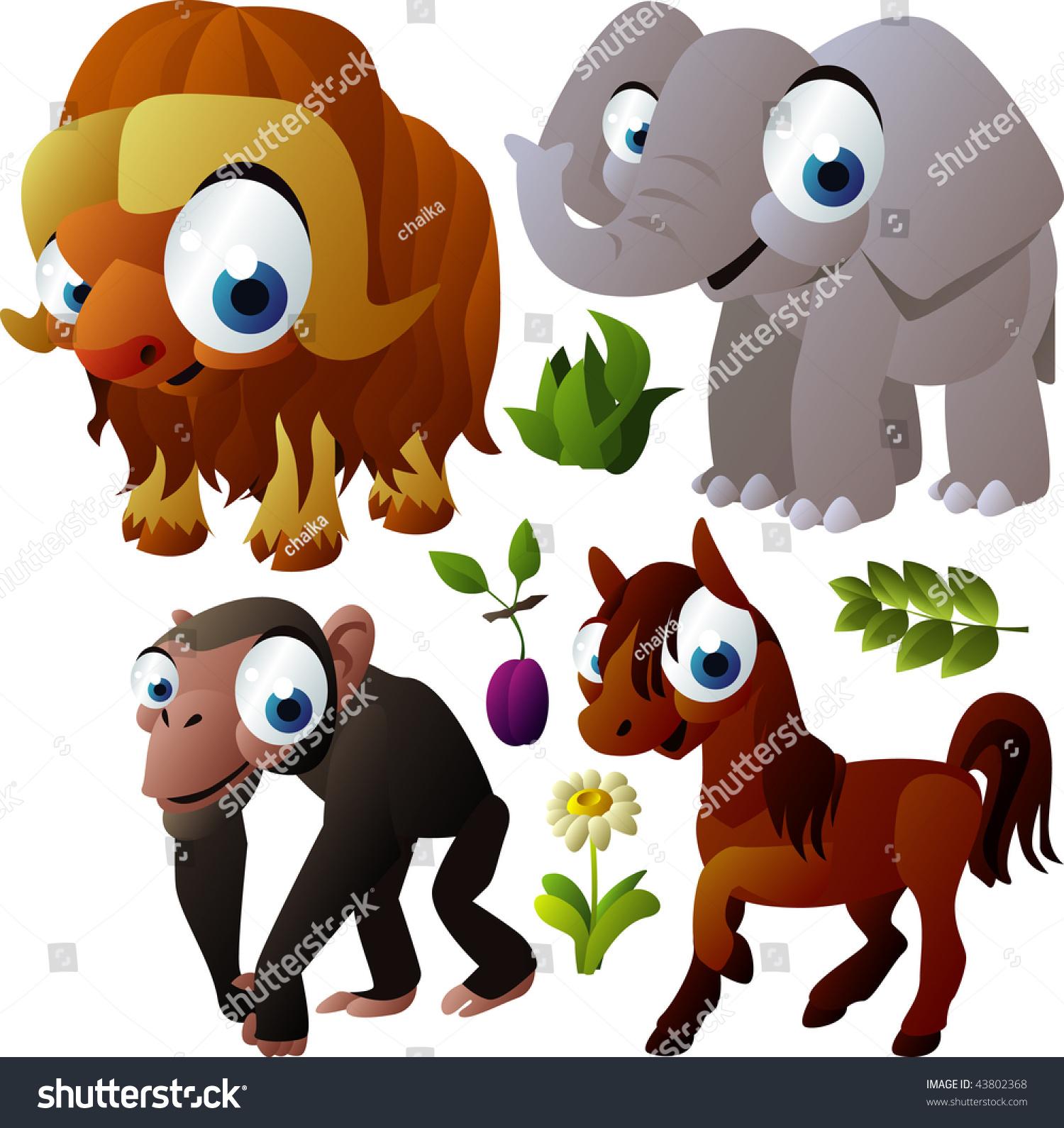 2010动物集合:麝香牛,大象