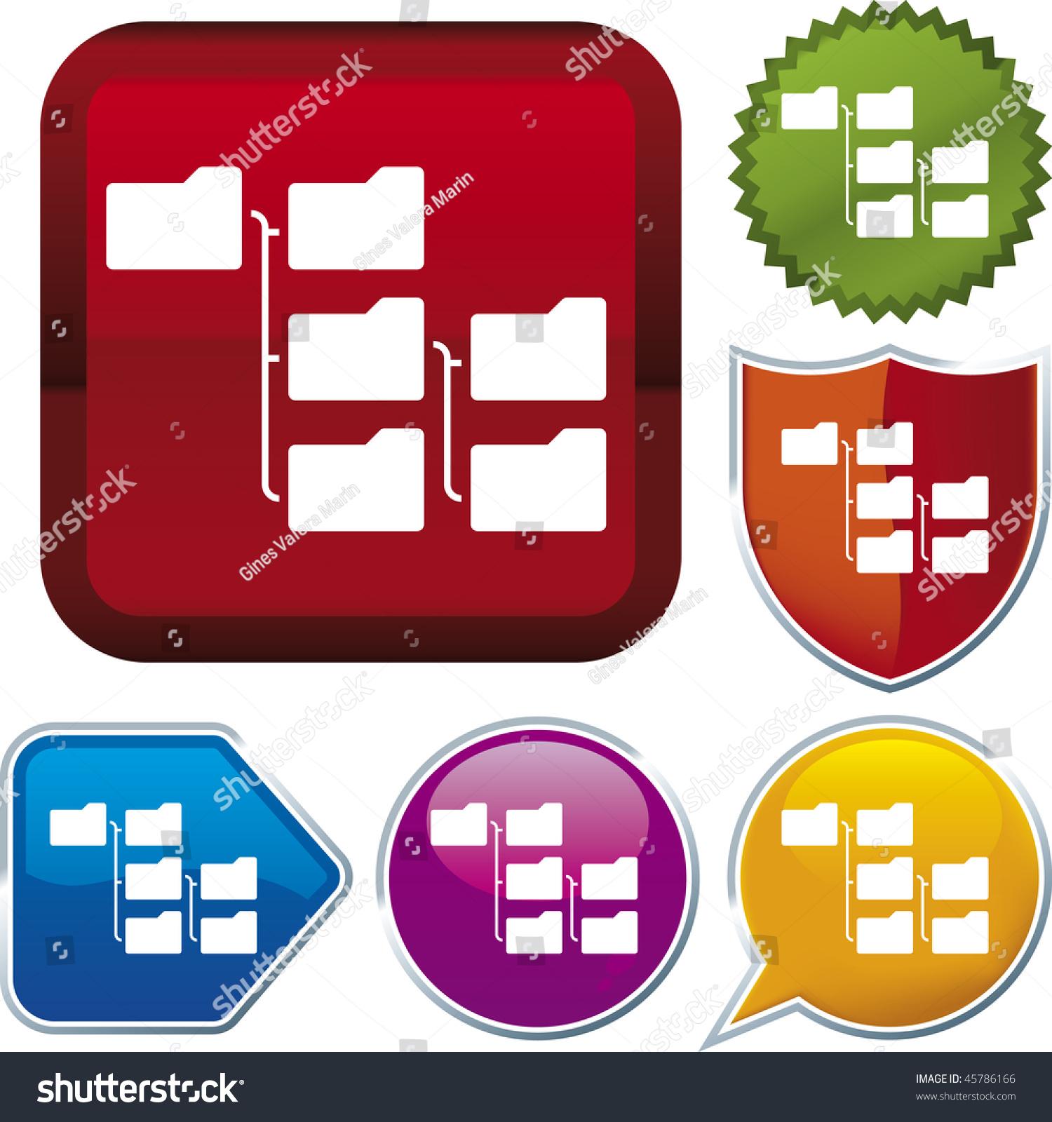 层次结构的矢量图标说明不同的按钮。只有全球的颜色。CMYK。简单的颜色和比例的变化。 - 插图/剪贴图,符号/标志 - 站酷海洛创意正版图片,视频,音乐素材交易平台 - Shutterstock中国独家合作伙伴 - 站酷旗下品牌