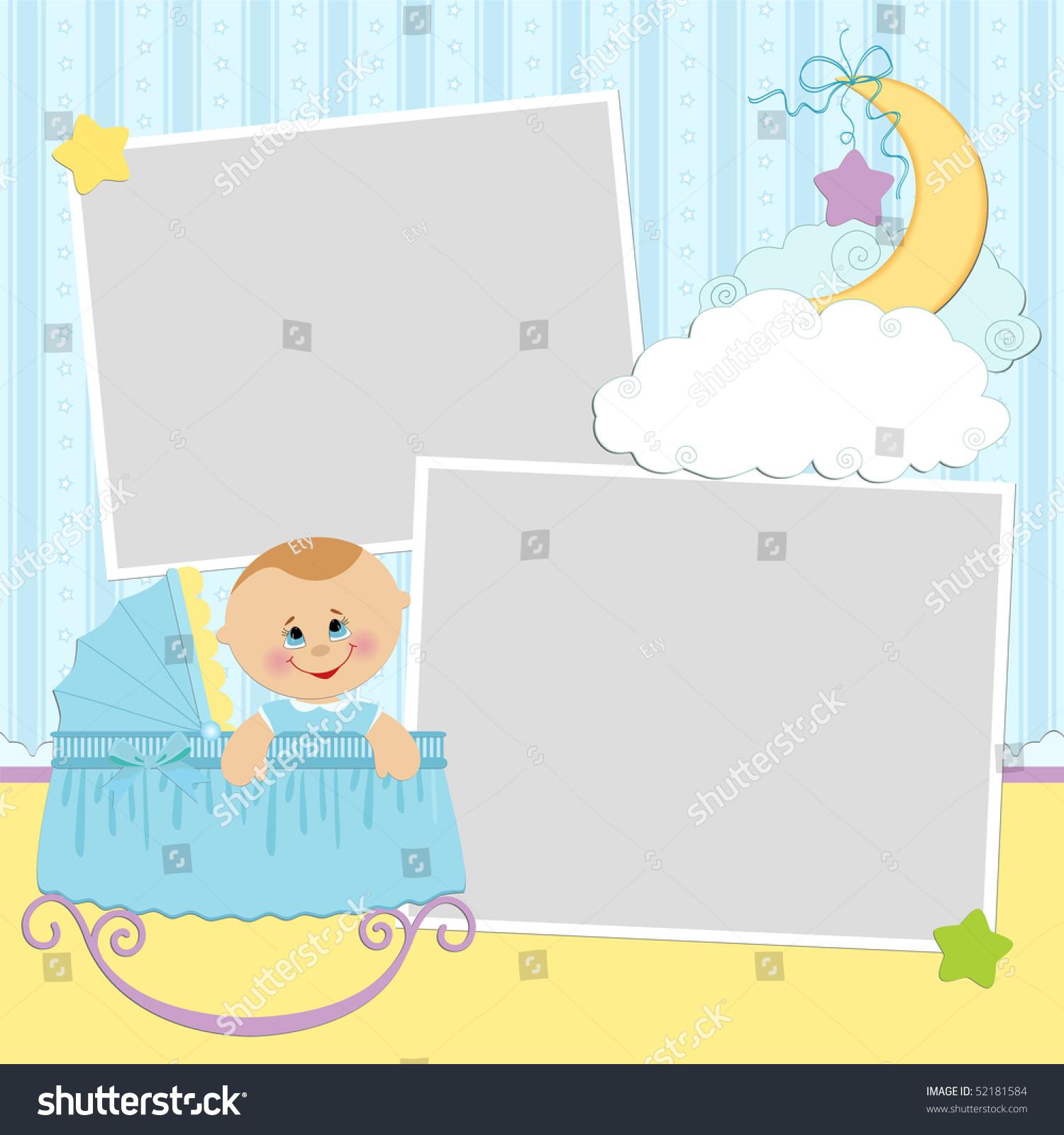 模板为宝宝的相册或明信片(eps10)