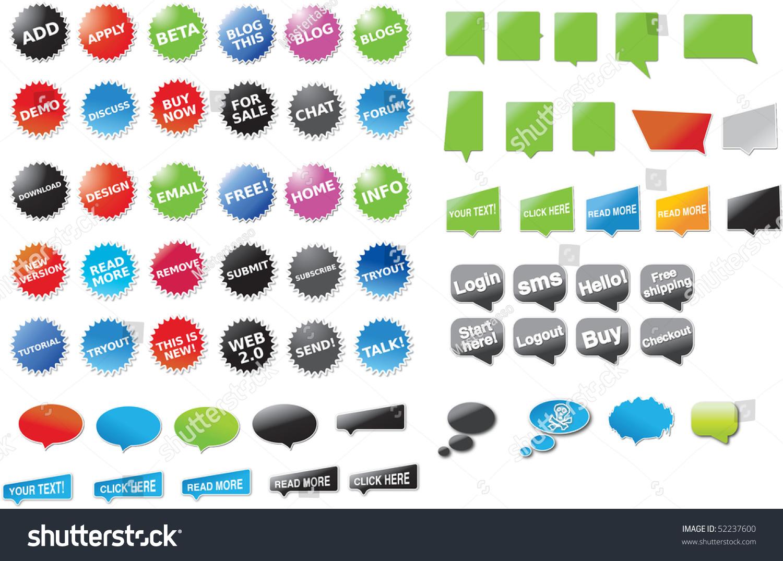 贴纸和对话框与文本-插图/剪贴图,符号/标志-海洛创意