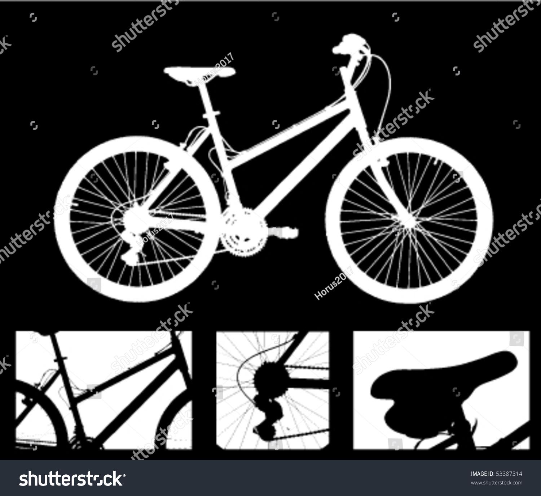 自行车和细节-插图/剪贴图