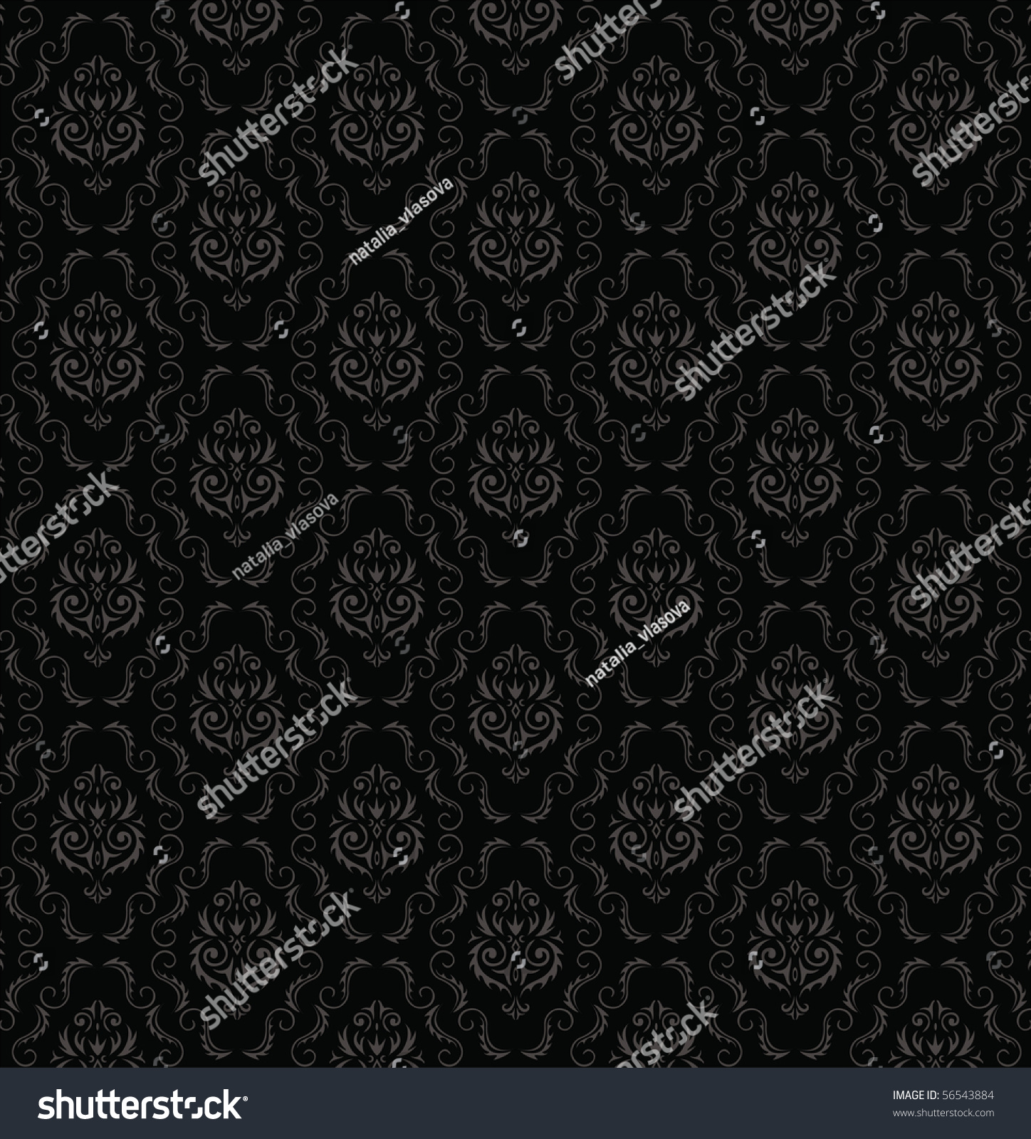 无缝壁纸图案,黑色的-背景/素材