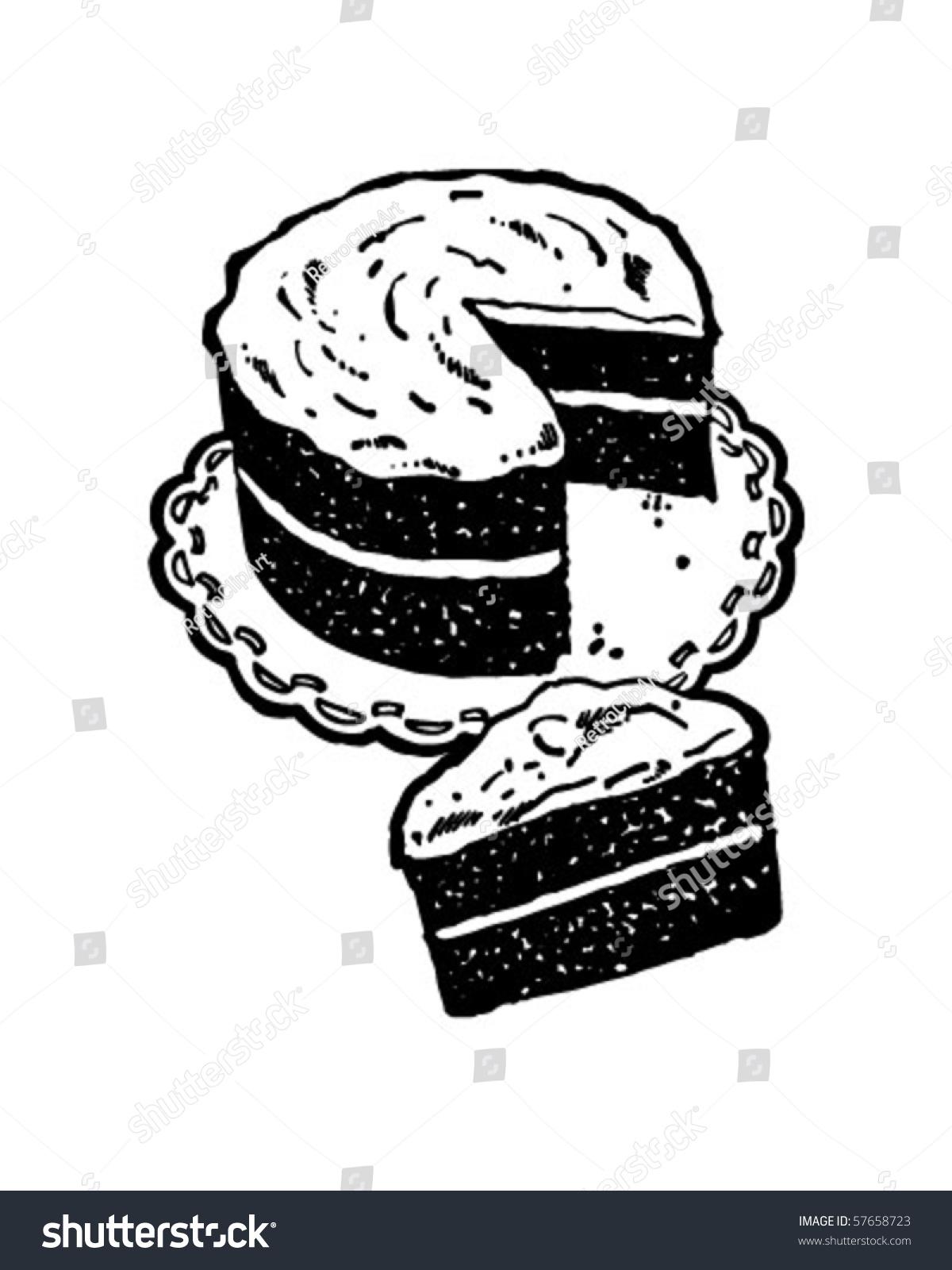 层蛋糕-复古剪贴画艺术-复古风格