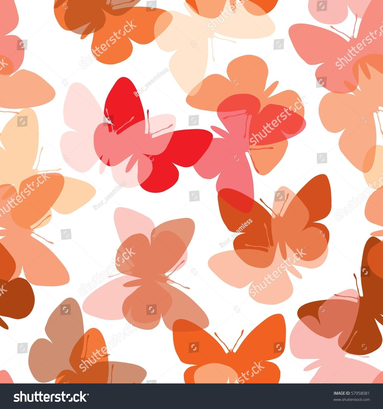 热无缝蝴蝶背景白色-背景/素材