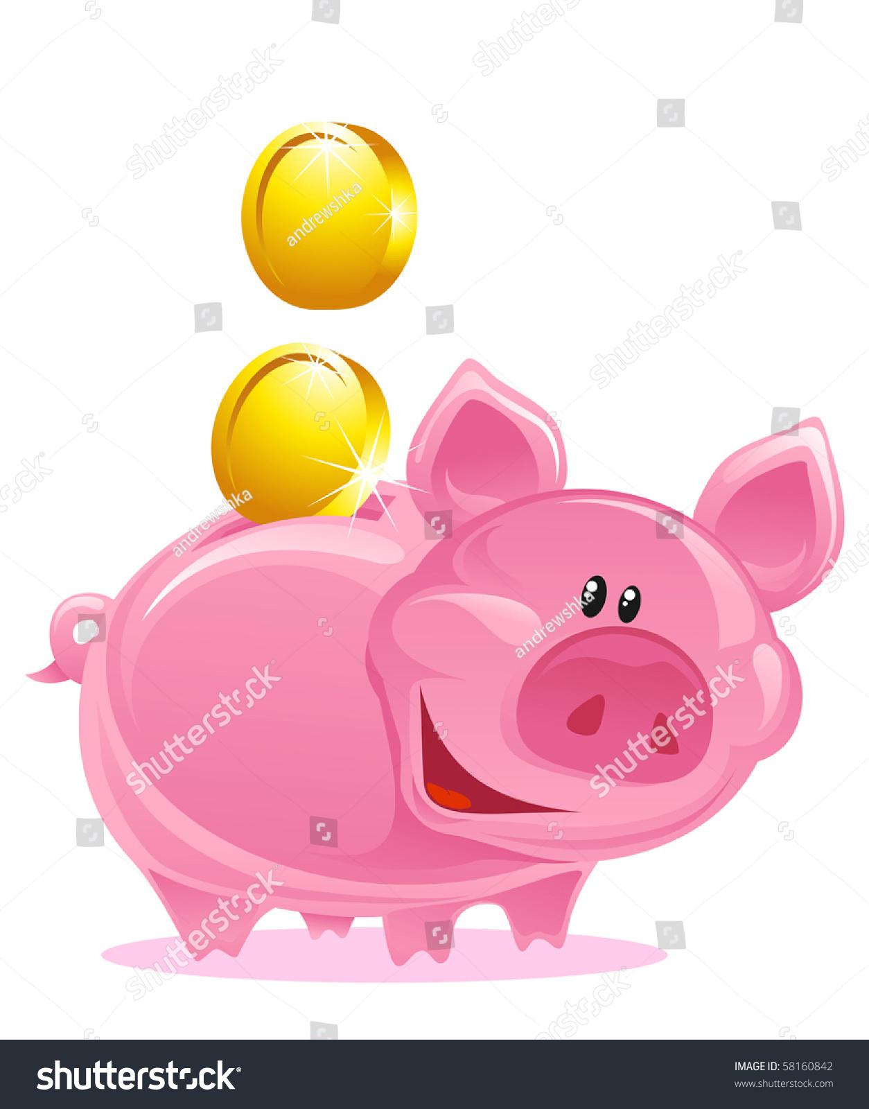 可爱的小猪银行金币