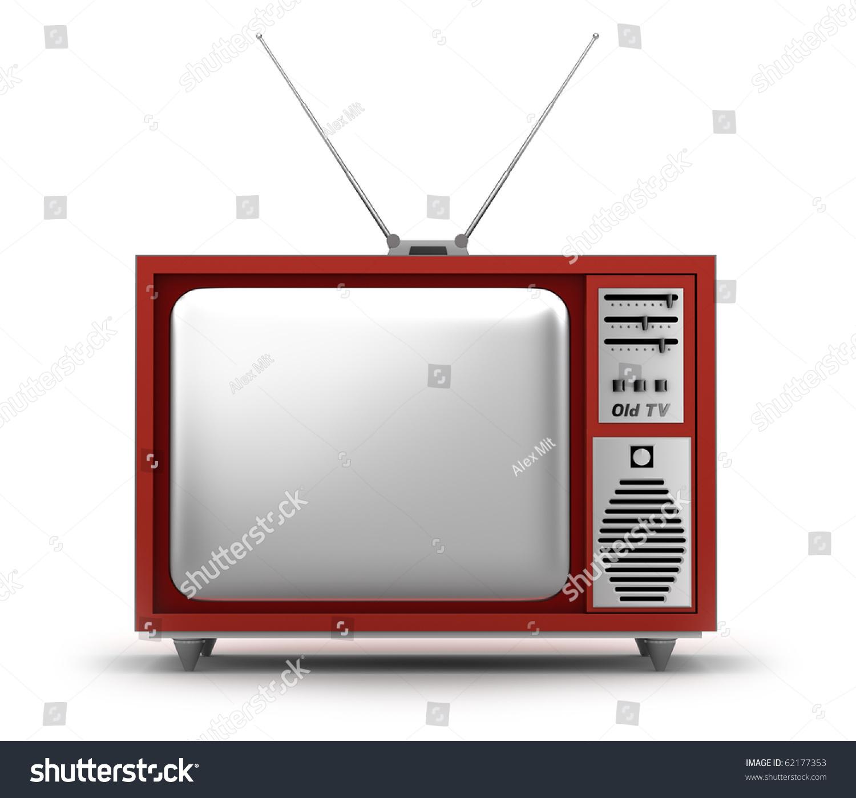 复古的电视机.我自己的设计.-物体,插图/剪贴图-海洛