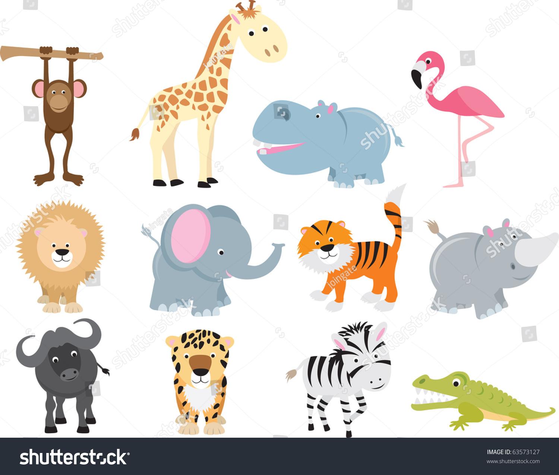 野生动物的动物图标和卡通的集合.-动物/野生生物,/图