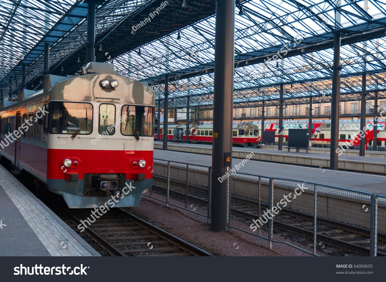 火车在赫尔辛基中央火车站