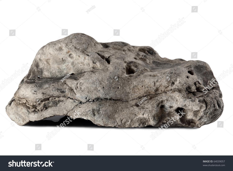 大石头孤立在白色背景图片